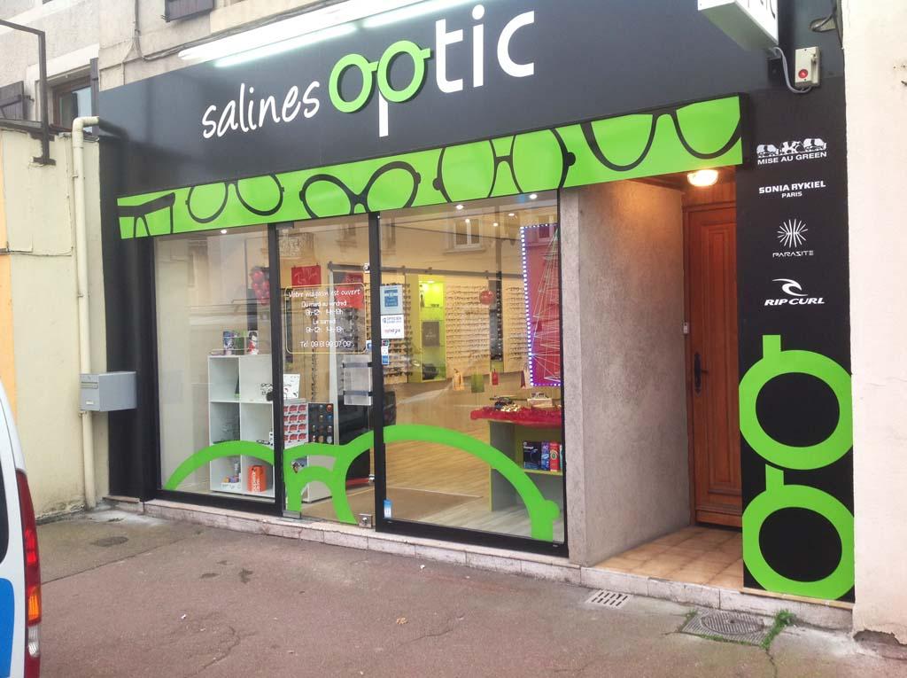 ... Rhabillage façade pour Salines Optic à Dombasles id  Enseigne  commerciale pour  Déco adhésive ... bcf0cd4582c4